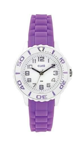 Club Maedchen-Armbanduhr Analog Quarz Silikon Violett A65174-2H0A-V