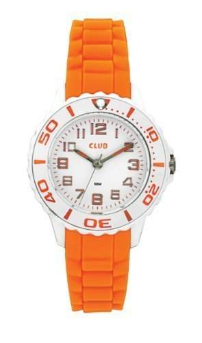 Club Maedchen-Armbanduhr Analog Quarz Silikon Orange 5 bar A65174-2H0A