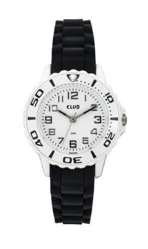 Club Maedchen-Armbanduhr Analog Quarz Silikon Schwarz 5 bar A65174H0A