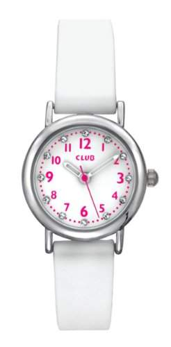 Club Maedchen - Armbanduhr Analog Quarz Silikon Weiss A56525S0A