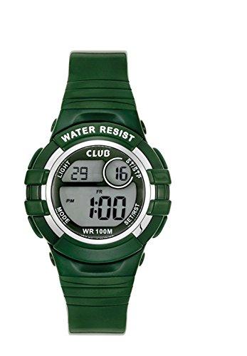 Club Jungen Armbanduhr Chronograph Quarz Digital 10 Bar Silikon Gruen 47101GR12E