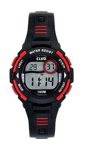 Club Jungen Armbanduhr Digital Chronograph 10 bar Silikon 47107S5E