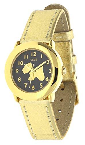 Club Maedchen Armbanduhr Analog Quarz Hund Gold A65152D5A