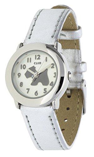 Club Maedchen Armbanduhr Hund Analog Quarz Silber A65152S4A