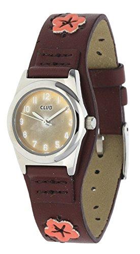 Club Maedchenuhr A65115S1A Braun Leder
