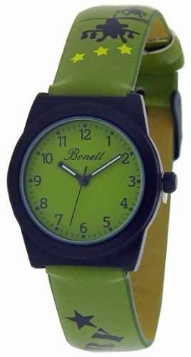 Bonett Jungen - Armbanduhr Analog Quarz Leder Hubschrauber 1201G