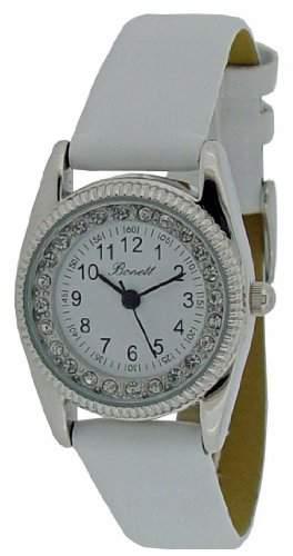 Bonett Maedchen - Armbanduhr Analog Quarz Leder weiss 1206H