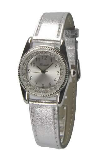 Bonett Maedchen - Armbanduhr Analog Quarz Silber 1206S