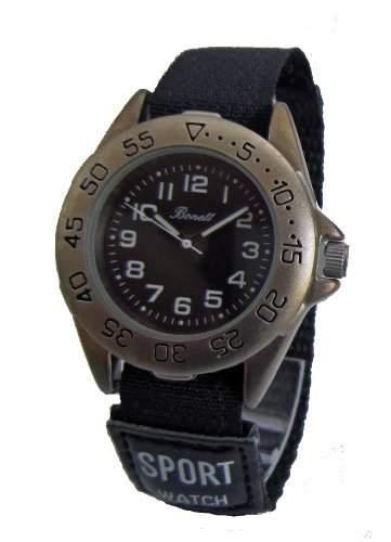 Bonett Jungen - Armbanduhr Analog Quarz Kinderuhr Klettband 1222S