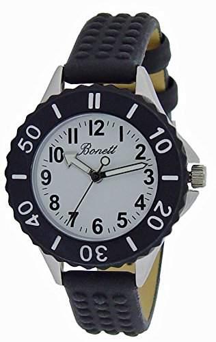Bonett Jungen - Armbanduhr Analog Quarz Jungenuhr 1237H