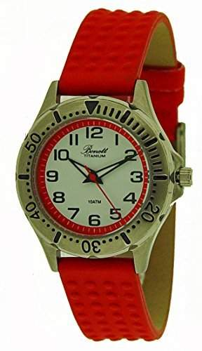 Bonett Maedchen - Armbanduhr Analog Quarz Titan 10 bar Maedchenuhr 1244R
