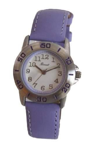 Bonett Maedchen - Armbanduhr Analog Quarz Leder Violett 1275LL