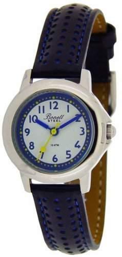 Bonett Unisex-Armbanduhr Analog Quarz Leder 10 bar