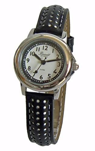 Bonett Maedchen - Armbanduhr Analog Quarz Leder Schwarz 10 bar 1257H
