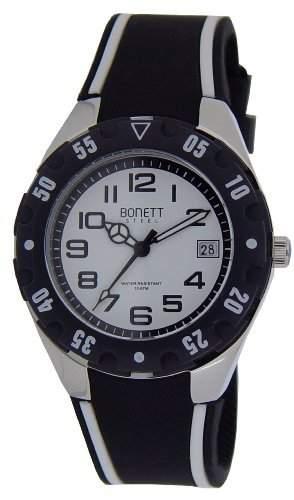 Bonett Jungen-Armbanduhr Analog Quarz Silikon Kalender 10 bar 1287H