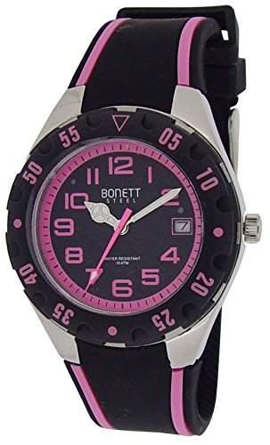 Bonett Jungen-Armbanduhr Analog Quarz Silikon Kalender 10 bar 1287P
