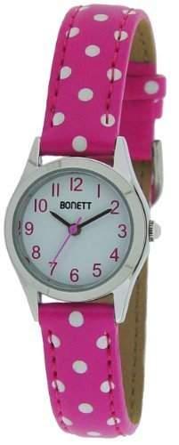 Bonett Maedchen - Armbanduhr Analog Quarz Punkte Pink 1325P