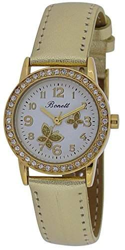 Bonett Maedchen - Armbanduhr Analug Quarz gold 1348D