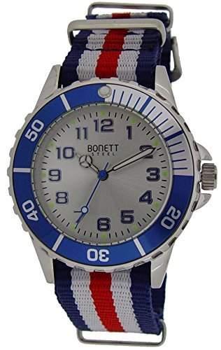 Bonett Jungen - Armbanduhr Analog Quarz Nylon 1372H