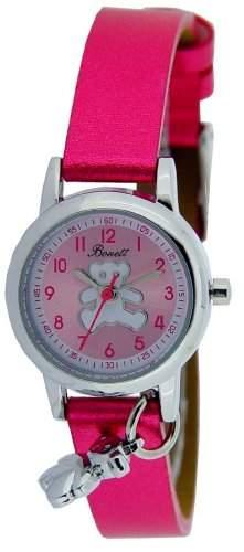 Bonett Maedchen-Armbanduhr Analog Quarz Teddybaer Rot 1267P