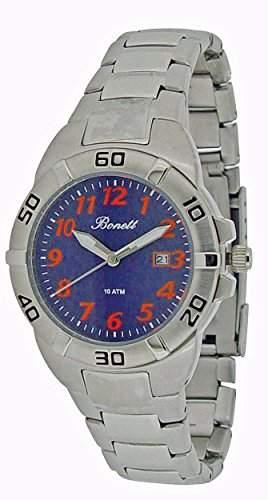 Bonett Jungen-Armbanduhr Analog Quarz Edelstahl 10 bar Kalender 1271SB