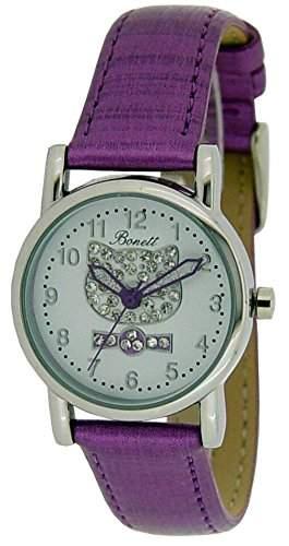 Bonett Maedchen - Armbanduhr Analog Quarz Katze A56501S10A