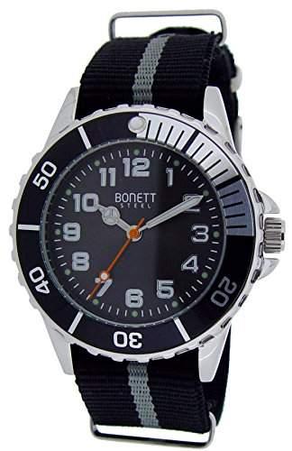 Bonett Jungen - Armbanduhr Analog Quarz Nylon 1372S