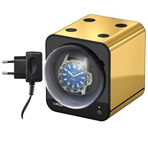 Boxy Fancy Brick Uhrenbeweger mit Netzadapter Farbe GOLD von Beco Technic Modulares System Power Sharing Technologie Programmierbar Qualitativ hochwertig