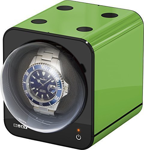 Boxy Fancy Brick Uhrenbeweger Farbe GRUEN von BECO Technic MODULARES SYSTEM Power Sharing Technologie Programmierbar Qualitativ hochwertig Ohne Netzadapter