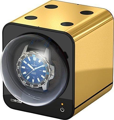 Boxy Fancy Brick Uhrenbeweger Farbe GOLD von BECO Technic MODULARES SYSTEM Power Sharing Technologie Programmierbar Qualitativ hochwertig Ohne Netzadapter