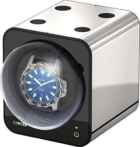 Boxy Fancy Brick Uhrenbeweger Farbe PLATIN von Beco Technic Modulares System Power Sharing Technologie Programmierbar Qualitativ hochwertig Ohne Netzadapter