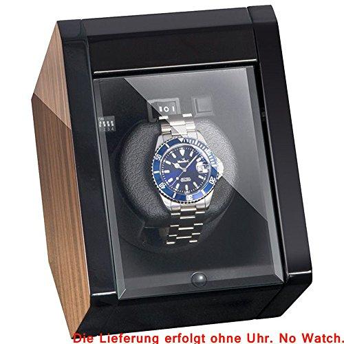 Boxy Crystal Uhrenbeweger fuer eine Uhr Makassar poliert schwarzes Futter mit Adapter