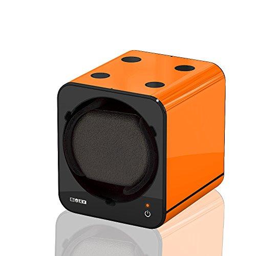 Uhrenbeweger Boxy Fancy Brick Farbe ORANGE von BECO Technic MODULARES SYSTEM Power Sharing Technologie Programmierbar Qualitativ hochwertig Ergaenzung ohne Netzadapter