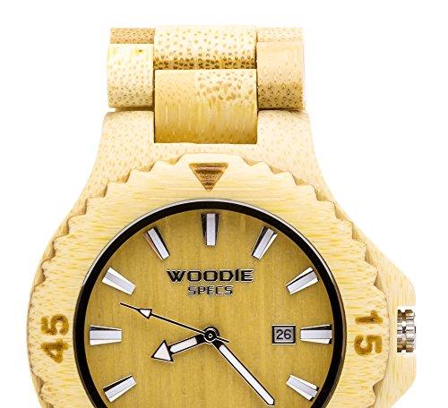 Herren massivem Holz handgefertigt Armbanduhr Made mit 100 natuerliches Bambus Holz