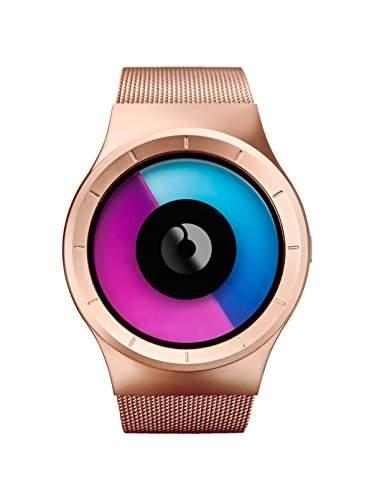 ZIIIRO Celeste Rose Gold - purple Watch Unisex Uhr Stahlmaschenband  Designed in Germany