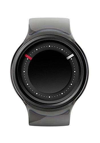 ZIIIRO EON Black Smoke mit Acrylreif austauschbares Armband Designed in Germany