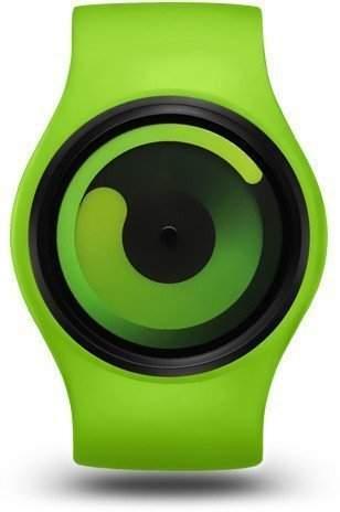 ZIIIRO Gravity Green Green Unisex Uhr flexible Silikon Strap Watch designed in Germany
