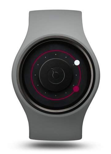 ZIIIRO Orbit Unisex Silikon  Edelstahl Watch Grey Magenta wechselbare Uhr