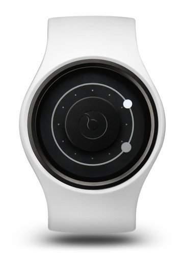 ZIIIRO Orbit Unisex Silikon  Edelstahl Watch Snow Grey wechselbare Uhr