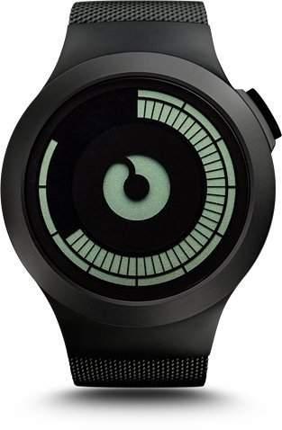 Ziiiro Saturn Black Design Digital Uhr Herrenuhr