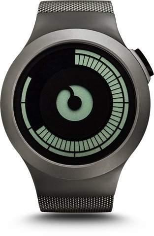 Ziiiro Saturn Gunmetal Design Digital Uhr Herrenuhr