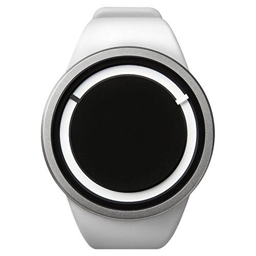 ZIIIRO Eclipse Unisexuhr Weiss Quarz Silikon Z0010WW