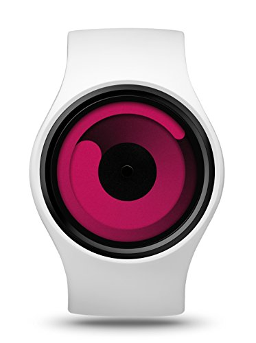 Ziiiro Gravity Snow Magenta Unisex Silikon Edelstahl Watch wechselbare Uhr
