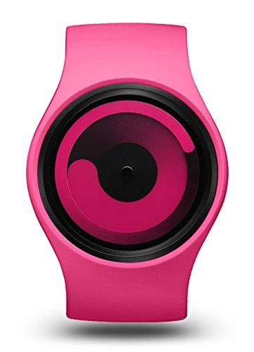 ZIIIRO Gravity Magenta Unisex Uhr Silikon Edelstahl Uhr Designed in Germany