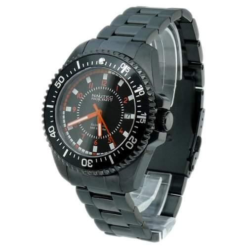 Nautec No Limit Herren-Armbanduhr BC 8215IPBK