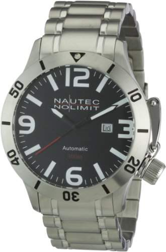 Nautec No Limit Herren-Armbanduhr Analog Automatik Canteen Diver CD ATSTSTSTBK