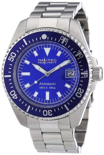 Nautec No Limit Herren-Armbanduhr Deep Sea STSTBLBL