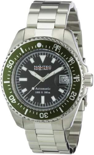 Nautec No Limit Herren-Armbanduhr Deep Sea STSTGRBK