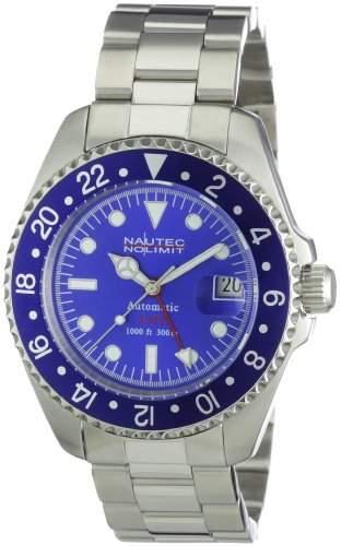 Nautec No Limit Herren-Armbanduhr Deep Sea Analog Automatik DS AT-GMTSTSTBLBL