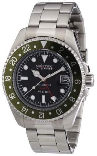 Nautec No Limit Herren-Armbanduhr Deep Sea DS AT-GMTSTSTGRBK